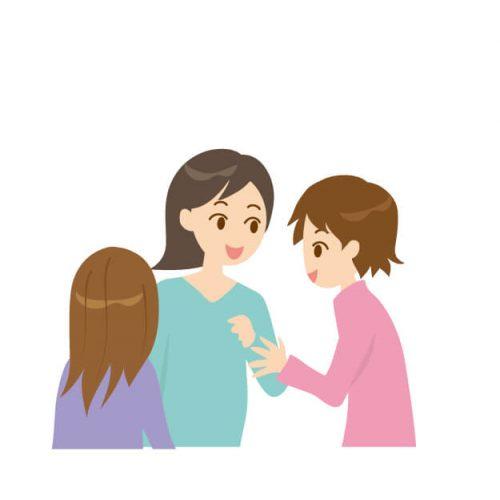 積極的に会話をするママ友達
