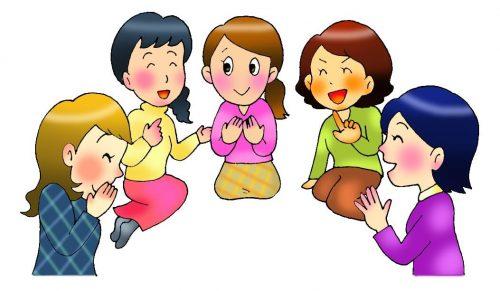 ママ友の世間話に華を咲かせる女性達