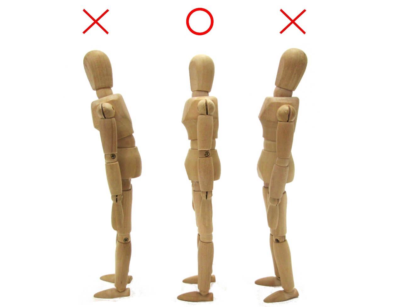 正しい肩の位置と姿勢