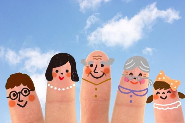 指に書かれた家族の顔