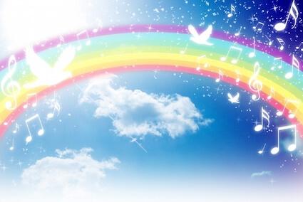 空にかかった綺麗な虹