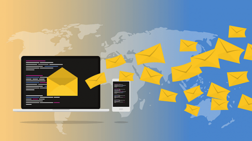 スパムメールを大量送信するアカウント